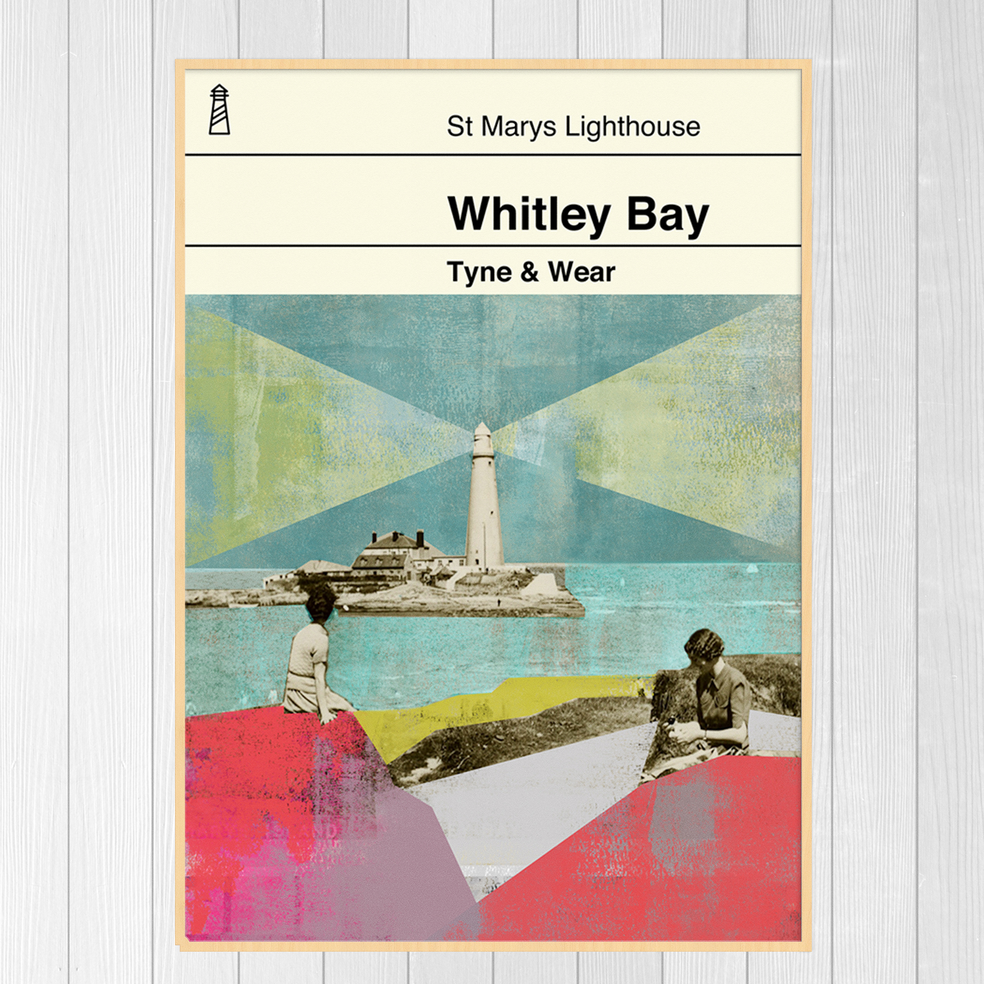 Whitley Bay Book Cover Print - The Old School